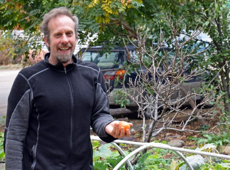 Lincoln Miller in Masala Co-op garden
