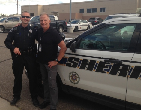 Deputy Sam Yaffe and Mitch Utterback