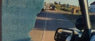 Broken driver's side window